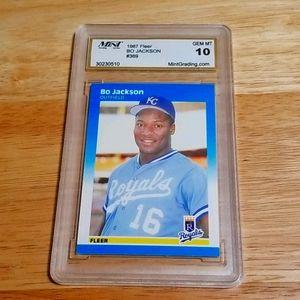 1987 Bo Jackson RC - Fleer # 369 - GEM MINT 10